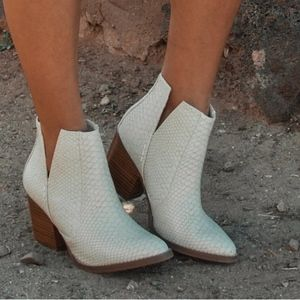 NWT cream booties